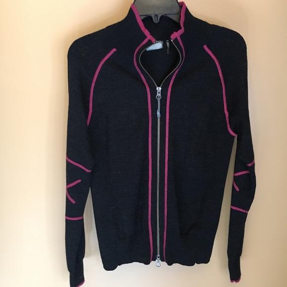 128b51ba17 Athleta wool blend panel full zip sweater jacket